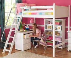 Two Floor Bed Kids Bedroom Ideas Two Floor Bed Combined With A Table Desk In A