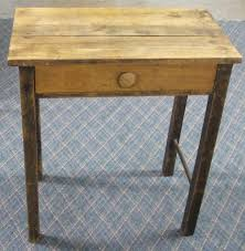 Small Wood Desk Small Primitive Wooden Desk Must Be Picked Up