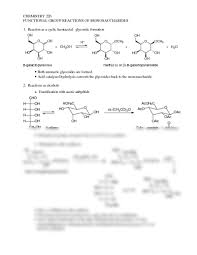 reactions of monosaccharides chemistry 226 with decamp at