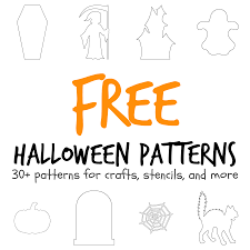 more than 30 halloween themed patterns including a coffin haunted