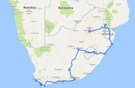 Map My Driving Route by South Africa Road Trip Ultimate Itinerary And Route The Whole