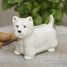 westie money box west highland terrier ornaments gift for