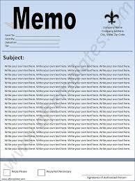 memo format template