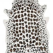 Faux Cowhide Rugs Brown Leopard Print Faux Cowhide Rug