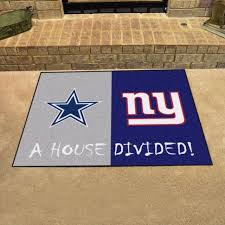 Area Rug Mat Nfl Cowboys Giants Area Rug House Divided Rivalry Floor Mat Accent