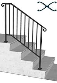 Iron Handrail For Stairs Diy Iron X Handrail Picket 2 Fits 2 Or 3 Steps Amazon Com