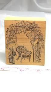 trellis garden rubber stamp vintage rubber stamp garden stamp