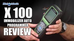 x 100 auto key programmer review part 2 mr locksmith video