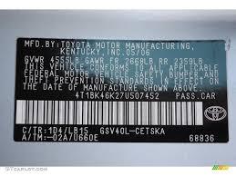 2007 camry color code 1d4 for titanium metallic photo 62519140