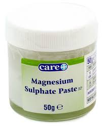 magnesium sulphate paste bp drawing ointment 50g firstaidfast co uk