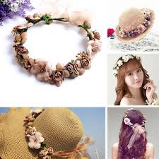 floral headdress party crown wedding headband boho floral headdress