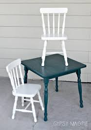 White Kids Table And Chair Set - peacock blue kids table and chair set gypsy magpiegypsy magpie
