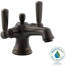 Kohler Oil Rubbed Bronze Kitchen Faucet Kohler Bancroft Monoblock Single Hole 2 Handle Mid Arc Bathroom