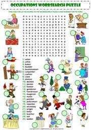 jobs crosswords esl ideas pinterest crossword printables