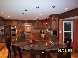 Eat In Kitchen Lighting by Granite Table Tops Vogue St Louis Traditional Kitchen Image Ideas