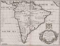 Latin America Blank Physical Map by Historical Map South America 1704 U2022 Mapsof Net
