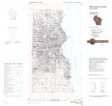topo maps wisconsin milwaukee county wisconsin 1986 topographic map american