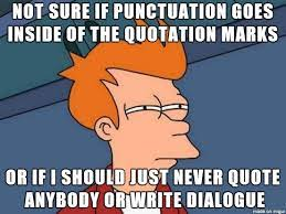 Punctuation Meme - common writing mistakes a cheat sheet adventures in writing and