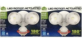 home zone security led motion light home zone security twin head led motion sensor security light