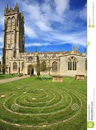 Somerset England Map St John U0027s Church In Glastonbury Somerset England Stock Photo