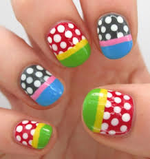 polka dot nails art has become very popular lately this type of