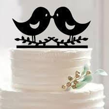 2017 wholesale suntek wedding engagement black acrylic cake topper