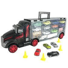 amazon com boley truck carrier toy big rig hauler truck with 14