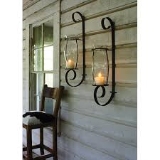 Candle Sconces Contemporary Marvelous Decoration Metal Wall Sconce Candle Holder Fancy Idea