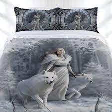 Double Bed Duvet Size Anne Stokes Winter Guardian Gothic Fairy Double Size Doona Duvet