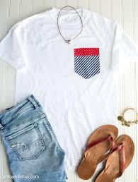 diy pocket 4th of july shirts on polkadotchair com