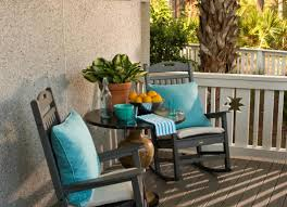 Frontgate Patio Furniture Clearance by Furniture Composite Patio Rocking Chairs And Blue Outdoor Throw