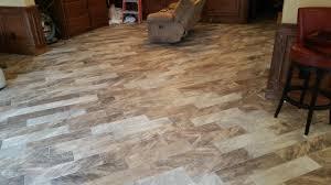 Carpet Tiles In Basement Wood Grain Tile On Diagonal In Springdale Home Modern Basement