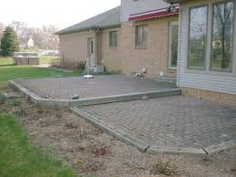 Stone Patio Design Ideas by View Raised Paver Patio Design Ideas Classy Simple On Raised Paver
