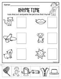 rhyme time cut paste worksheets teacherspayteachers com