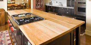 kitchen island top ideas 15 wood countertop ideas for kitchens table wood countertop
