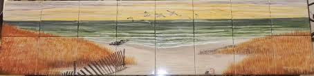 hand painted tiles for kitchen backsplash ceramic tile murals for kitchen backsplash kitchen hand painted