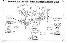 1967 1969 firebird subframe body mount bushing set