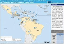 map of usa zika america and the caribbean zika virus echo daily map 25