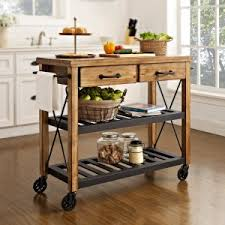 Industrial Kitchen Islands Distressed Industrial Style Kitchen Islands And Carts Hayneedle