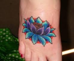 Flower Tattoo Designs On Feet - 31 top lotus foot tattoo idea golfian com