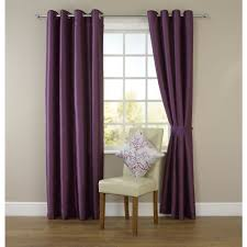 Plum Faux Silk Curtains Wilko Faux Silk Eyelet Curtains Plum 167 X 183cm At Wilko