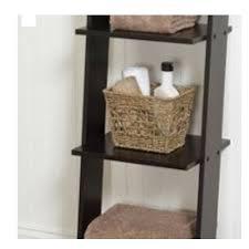 Bathroom Ladder Linen Tower Leaning Ladder Shelf 4 Tier Display Linen Tower Wood Espresso