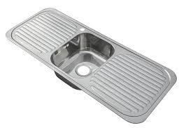 Inset Stainless Steel Single Bowl Kitchen Sink With  Drainers - Single bowl kitchen sinks