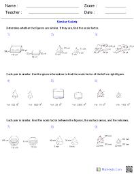 geometry worksheets surface area u0026 volume worksheets