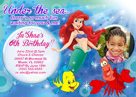ariel birthday invitations alanarasbach com
