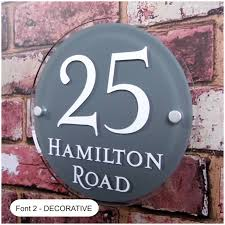 House Plate Large Round House Sign Address Plaque Or Door Number Plate
