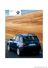 bmw x3 3 0i 2006 e83 owner u0027s manual