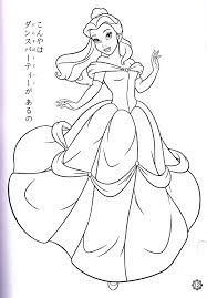 disney belle coloring pages chuckbutt com