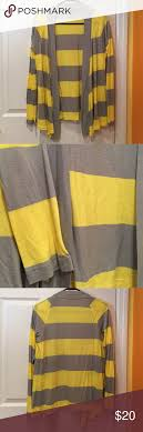thanksgiving sale grey yellow striped cardigan lays just