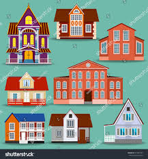 Different House Designs Set Different Houses Will Help Create Stock Vector 515042587